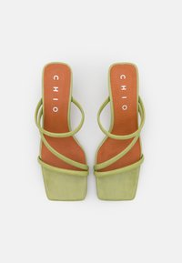 Chio - Heeled mules - green poncho - 5