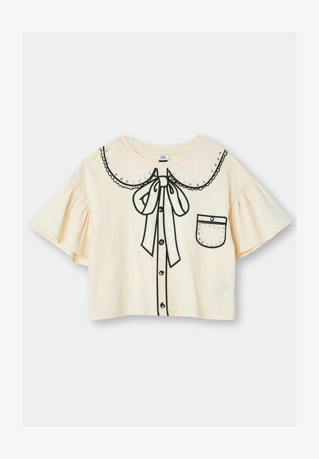 T-shirt con stampa - cream