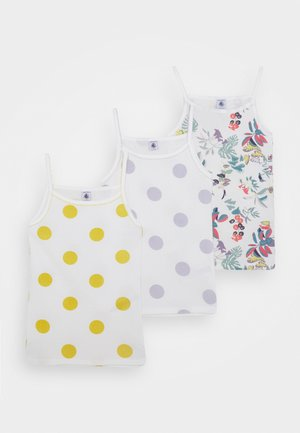3 PACK - Camiseta interior - yellow/purple