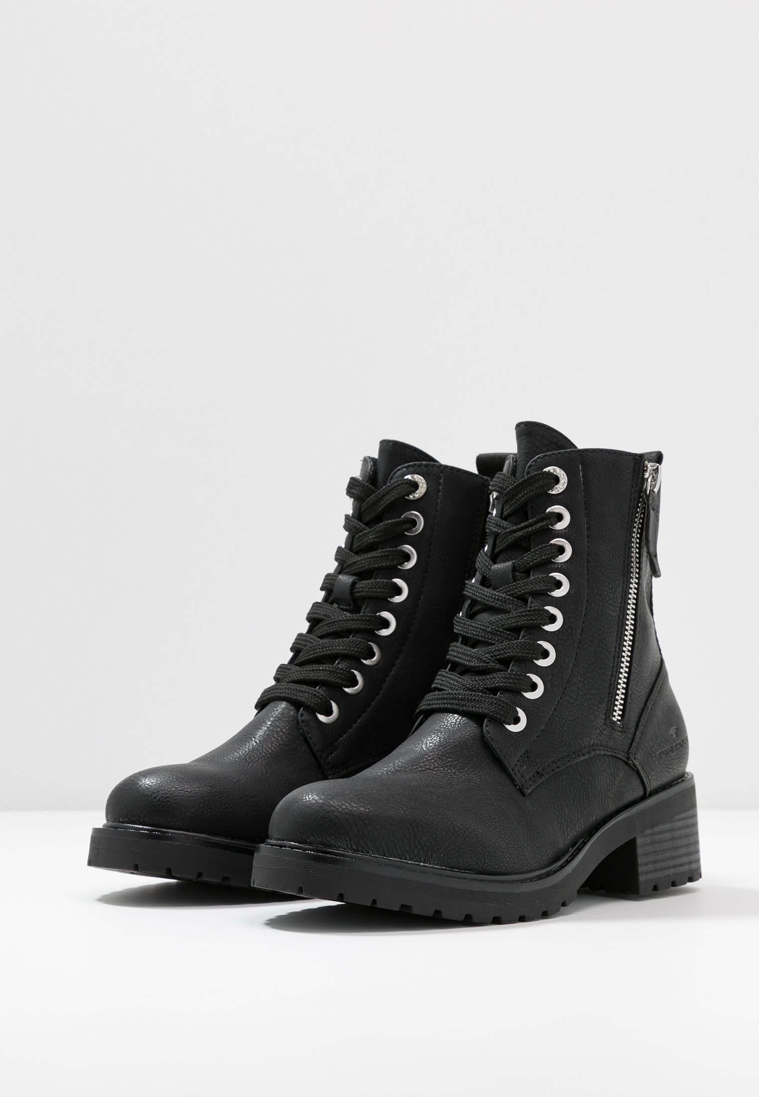 TOM TAILOR Bottines à lacets - black - Bottines Femme Original