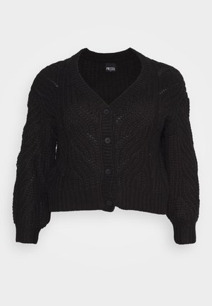 PCRACHEL CARDIGAN - Cardigan - black