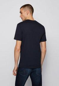 BOSS - TEALLY - Print T-shirt - dark blue - 2