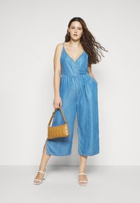 Simply Be - STRAPPY WRAP CULOTTES - Combinaison - mid blue - 1
