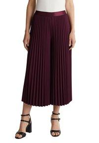 Esprit Collection - CULOTTE - Trousers - bordeaux red - 5