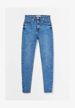 SUPER HIGH WAIST - Jeansy Skinny Fit - dark blue
