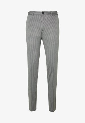 JJIMARCO JJPHIL NOR PIN - Trousers - grey melange