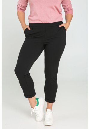 City mit Bundfalte - Trousers - black