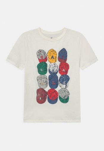 BOYS GRAPHIC - Print T-shirt - new off white