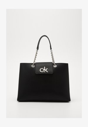 RE LOCK TOTE - Handbag - black