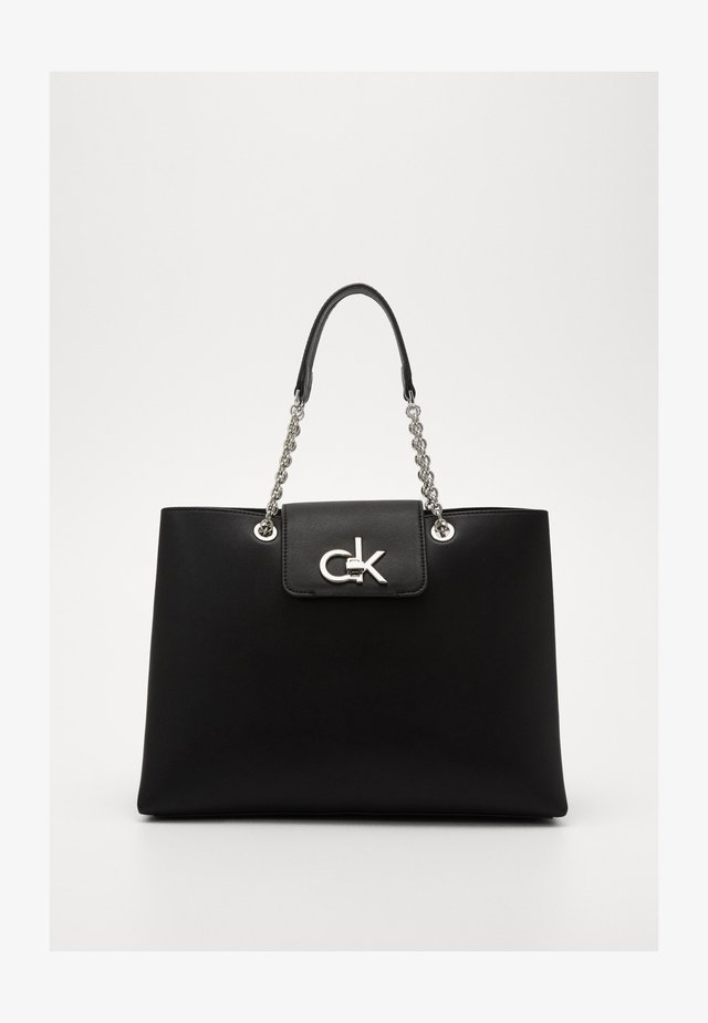 RE LOCK TOTE - Sac à main - black