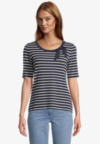 Betty Barclay - Print T-shirt - dunkelblau weiß - 0