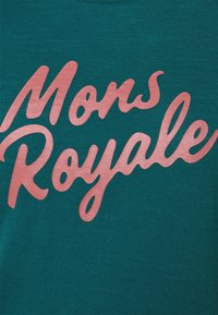 Mons Royale - ICON TEE - Triko spotiskem - deep teal - 2