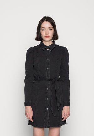 VMMAGGIE SHORT DRESS - Denim dress - black