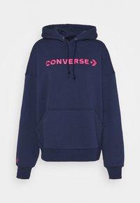 Converse - EMBROIDERED OVERSIZED HOODIE - Sweatshirt - midnight navy - 5
