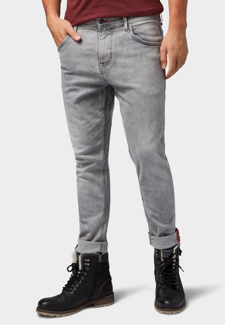 TOM TAILOR DENIM - CONROY - Jeans Tapered Fit - grey denim