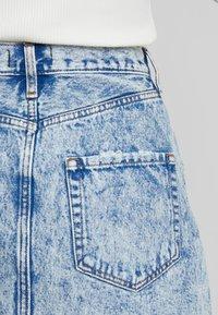 Abercrombie & Fitch - MINI SKIRT - A-line skirt - blue - 3
