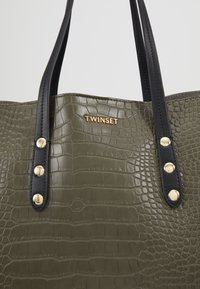 TWINSET - CROCO UNLINED - Tote bag - military - 7