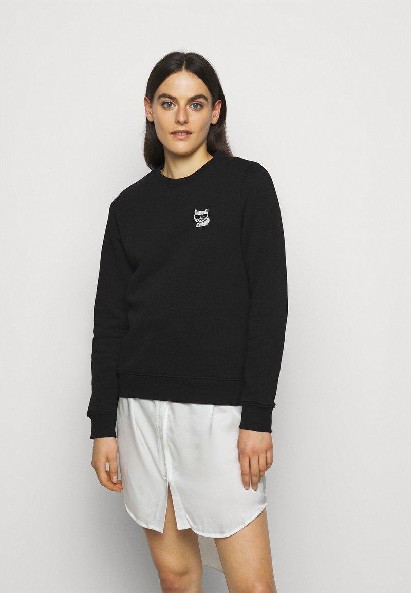 KARL LAGERFELD - IKONIK MINI CHOUPETTE - Sweatshirt - black