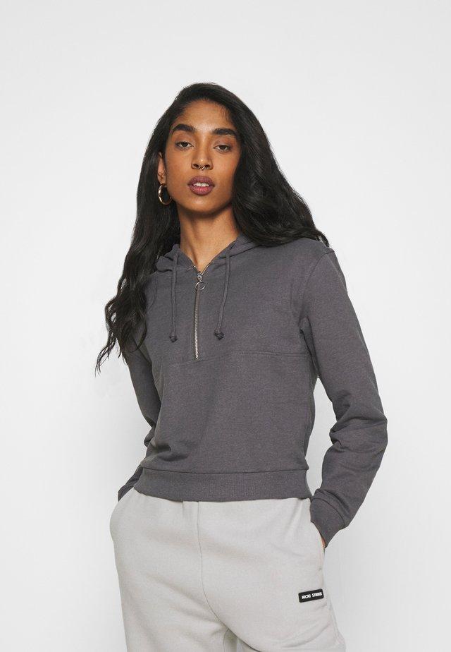 Hoodie - mottled grey