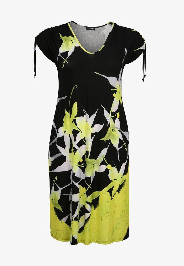 MIT ALLOVER-MUSTER - Robe d'été - anis