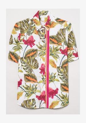 Button-down blouse - khaki/pink/weiss