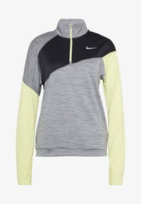 Nike Performance - MIDLAYER - Camiseta de deporte - smoke grey/limelight/black/reflective silver - 4