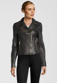 Rino&Pelle - GHOST - Leather jacket - dark chocolate - 0