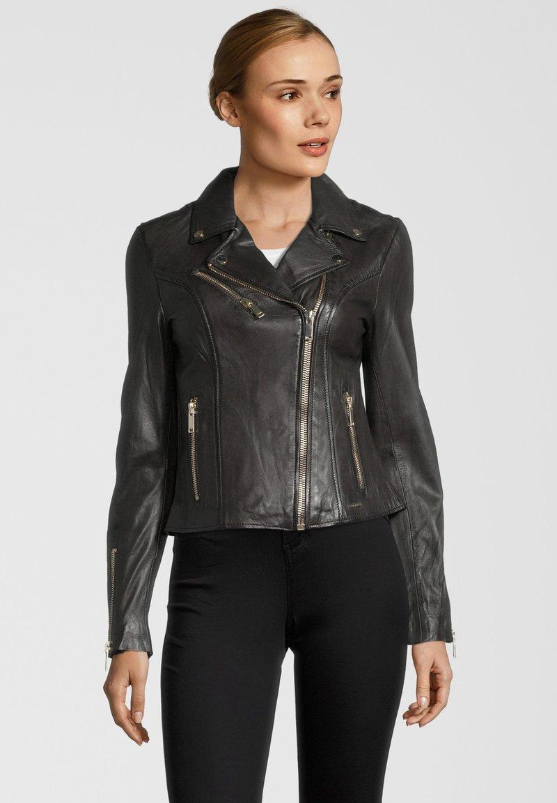 Rino&Pelle - GHOST - Leather jacket - dark chocolate