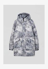 Zimní kabát - mottled light grey