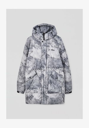 Winter coat - mottled light grey