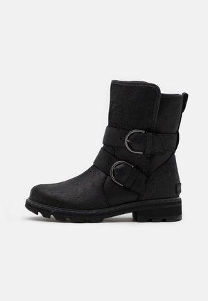 LENNOX MOTO BOOT COZY - Kovbojské/motorkářské boty - black
