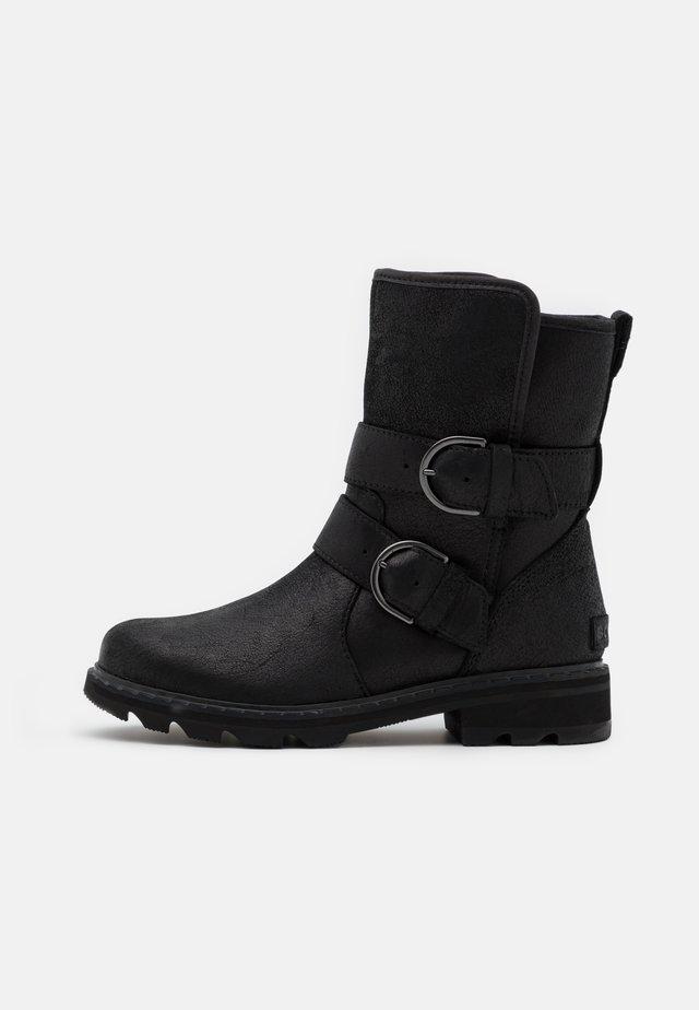 LENNOX MOTO BOOT COZY - Cowboy/biker ankle boot - black