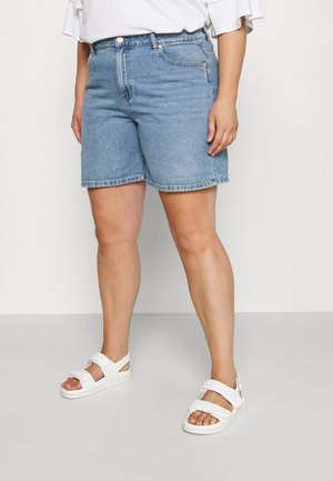 CARHINE - Denim shorts - light blue denim