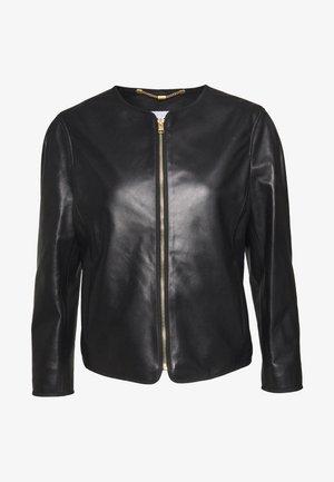 LAVANDA - Leather jacket - black
