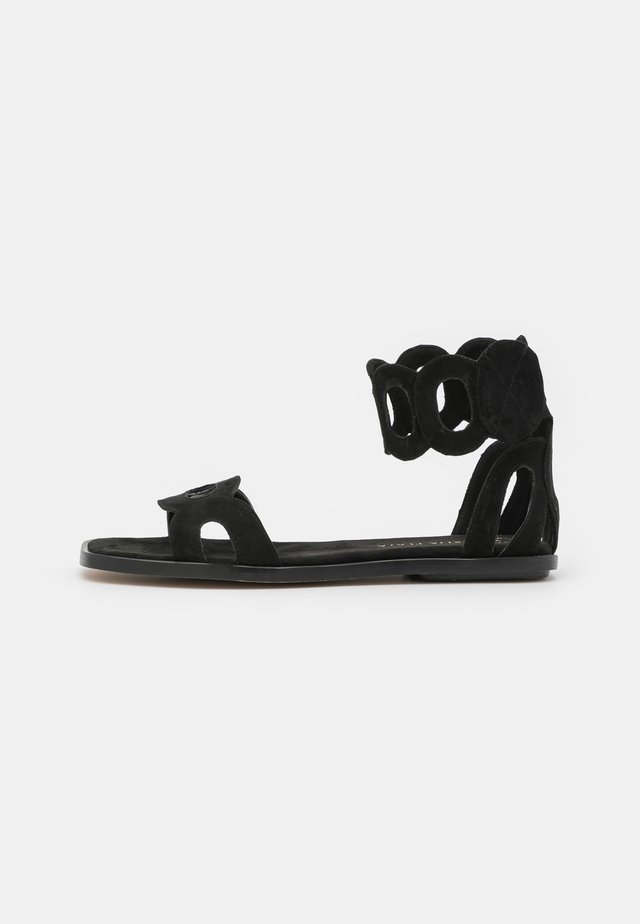 VEGAN HORTENSIA - Ankle cuff sandals - black