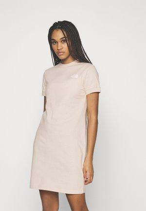 TEE DRESS - Vestito di maglina - pink tint