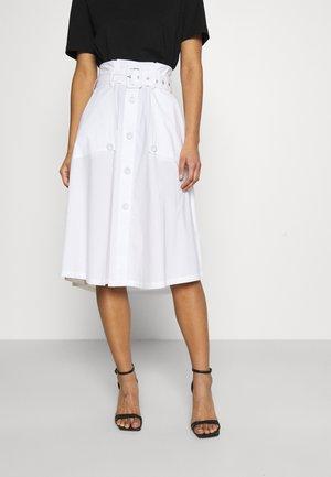 FANCY SKIRT - A-line skirt - white
