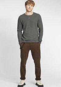 Solid - UPANO - Long sleeved top - castlerock - 1