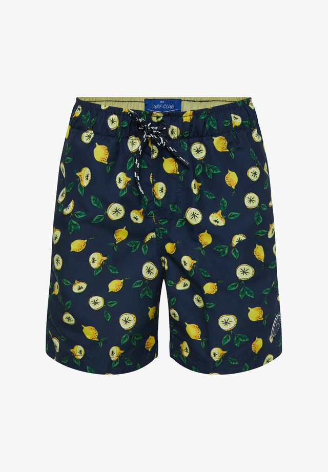 WE FASHION JUNGEN-BADEHOSE MIT MUSTER - Swimming shorts - light blue