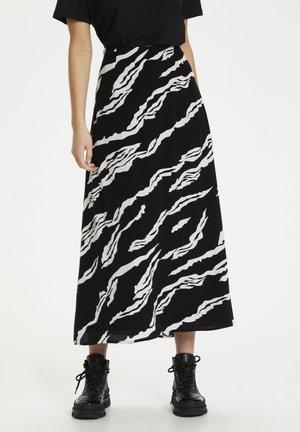 ZOHAGZ  - A-line skirt - black scratch