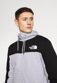The North Face - FULL ZIP HOODIE - Bluza rozpinana - light grey heather/black - 4