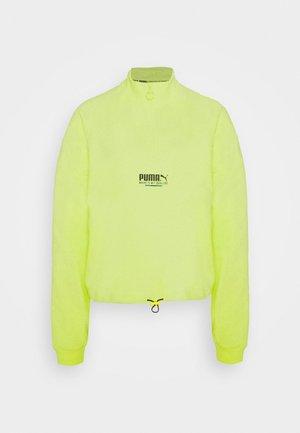 HALF ZIP CREW - Sweatshirt - sharp green