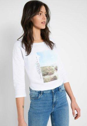 MIT PRINT - Long sleeved top - weiß