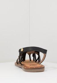 Gioseppo - SAVONA - T-bar sandals - black - 4