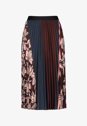 A-line skirt - chestnut/rose/druck