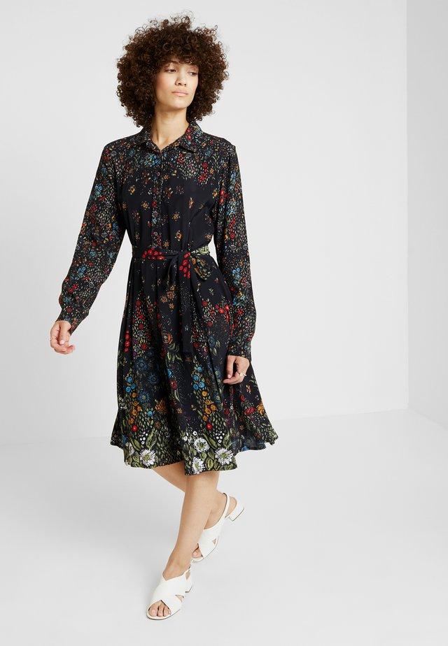 PRINTED DRESS - Blusenkleid - black