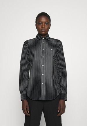 GEORGIA LONG SLEEVE - Button-down blouse - black