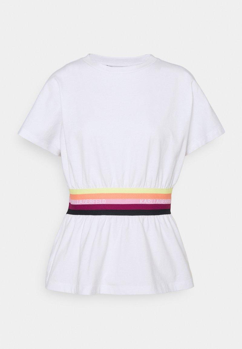 KARL LAGERFELD - RIB INSERT  - T-Shirt print - white