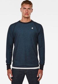 G-Star - JIRGI TAPE DETAIL ROUND LONG SLEEVE - Felpa -  blue/cricket blue - 0