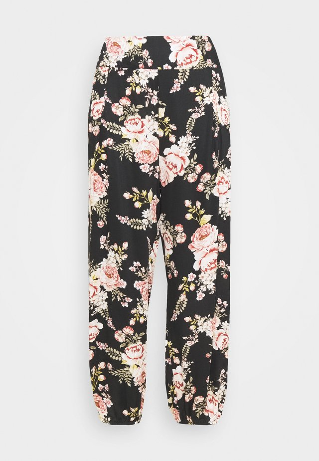 JADE PANT - Bukser - black/multi coloured